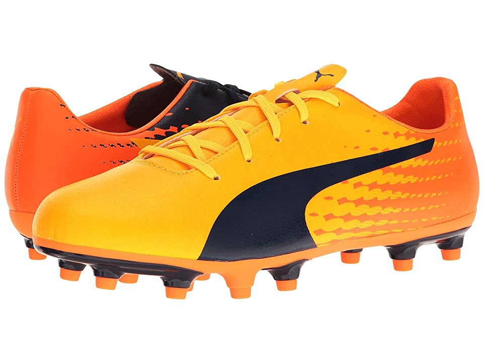Puma Kids evoSPEED 17.5 FG Jr (Little Kid/Big Kid) (Ultra Yellow/Peacoat/Orange Clown Fish) Kids Shoes