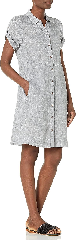 NIC+ZOE Women's Drifty Linen Shirt Dress