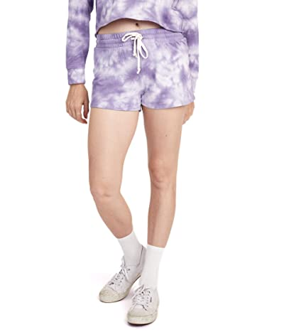 Alternative Cozy Lightweight French Terry Shorts (Purple Tie-Dye) Women