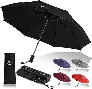 Tinya Windproof Auto Travel Umbrella: Men Women 8 & 10 Sturdy Big Strong Ribs Durable Compact Portable Small Lightweight F...