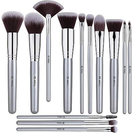 BS-MALL 13 PCS Makeup Brush Set Premium Synthetic Silver Foundation Blending Blush Face Powder Brush Makeup Brush Kit