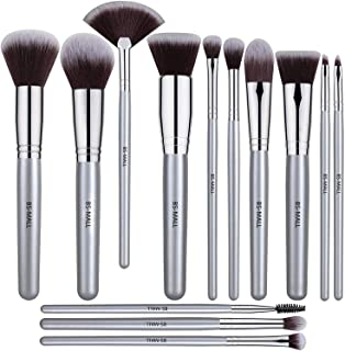 BS-MALL 13 PCS Makeup Brush Set Premium Synthetic Silver Foundation Blending Blush Face Powder Brush Makeup Brush Kit
