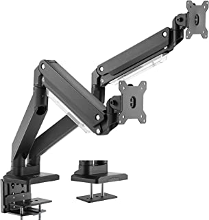 VIVO Premium Aluminum Dual Monitor Pneumatic Spring Arms Desk Mount Stand, Fits 2 Screens up to 32 inches (STAND-V102G2)