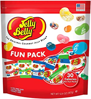 Jelly Belly Jelly Beans Fun Pack - Assorted, Sours, and Kids Mix Mini Bags - 12.6 Ounces of Individual Pocket-Sized Bags