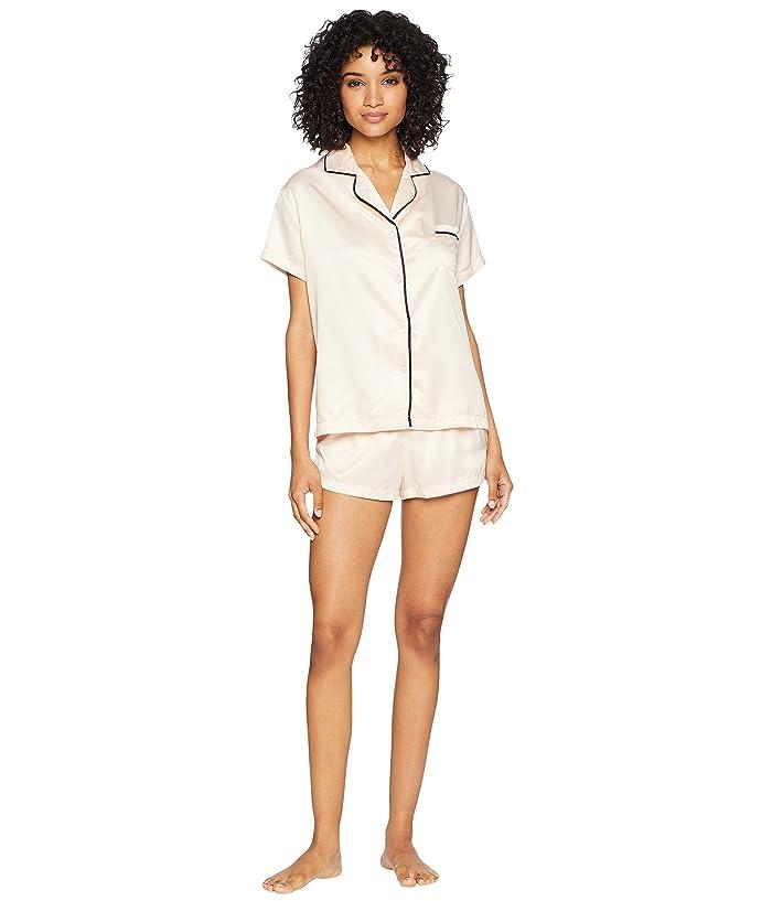 BLUEBELLA Abigail Shirt and Shorts (Pale Pink/Black) Women