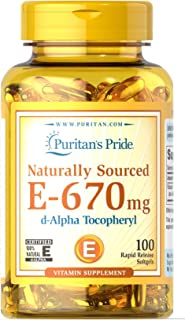 Puritans Pride Vitamin E-100% 1000 Iu Natural-100 Softgels, 100 Count