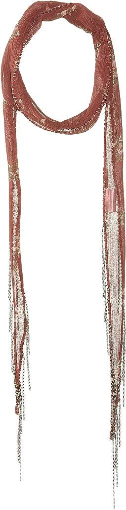 Chan Luu - Vintage Floral Print Long Skinny Scarf