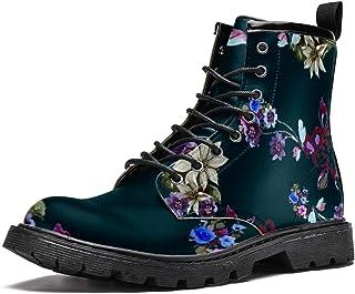 BENNIGIRY Little Bear Botas de caña Alta para Mujer Zapatos clásicos de Invierno Zapatos de Cuero Casuales