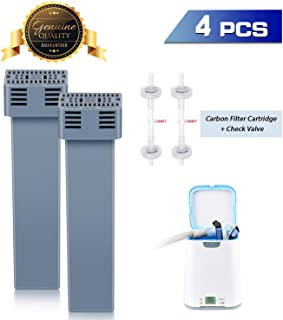 [Upgraded Version] Cartridge Filter Kit for SoClean 2, CPAP Filter Replacement Includes 2 Cartridge Filter and 2 Check Valve, Exactly The Same as Original, Ozone Resistant & Longer Service Life