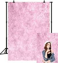 CapiSco 5X7FT Abstract Portrait Backdrop Pink Vinyl Background Retro Pink Solid Color Professional Photography Backdrop Baby Children Travel Family Newborns Party Decoration Studio Props SCO16