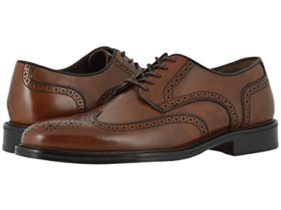 Johnston & Murphy Daley Wing Tip (Tan Full Grain) Men