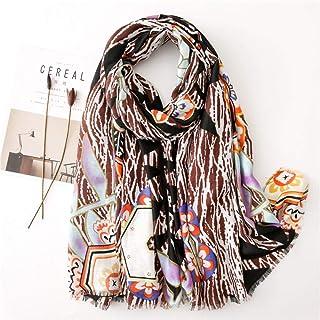 Schal Damen Vielseitiger Schal Damen Stil Seidenschals Schal Baumwolle Leinen Kopftuch Decke