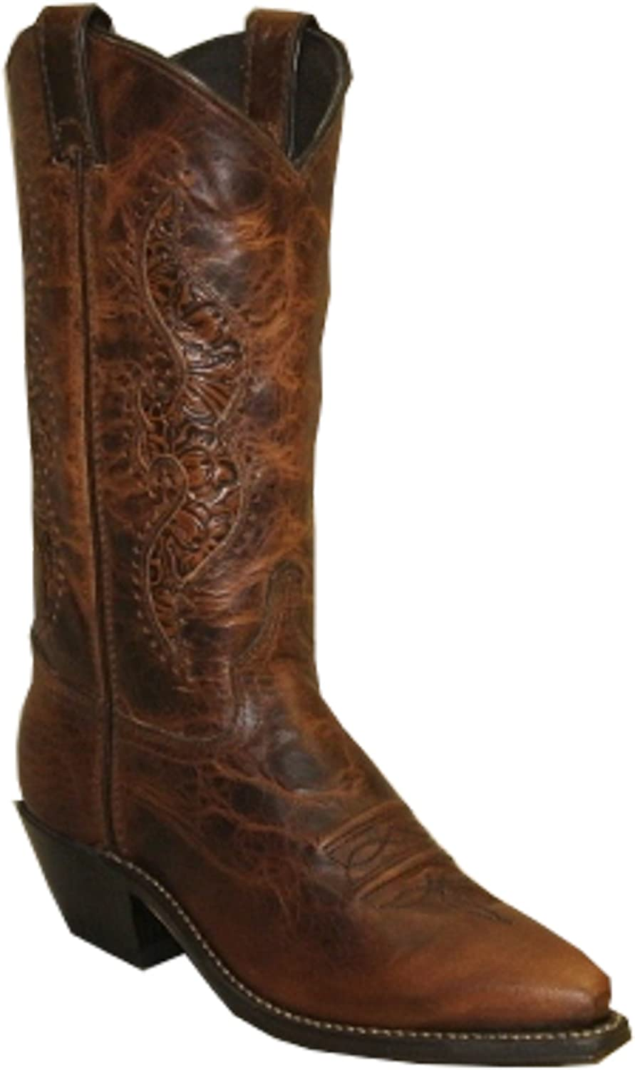 New color Abilene Women's Hand Tooled Inlay Snip Brand new Boot Cowgirl Toe