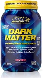 MHP Dark Matter Post Workout, Recovery Accelerator, w/Multi Phase Creatine, Waxy Maize Carbohydrate, 6g EAAs, Fruit Punch,...