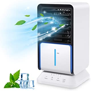 Condizionatori portatili, Climatizzatore Portatile, Air Cooler con 3 Velocità del Vento Regolabili 3 in 1 umidificatore, D...