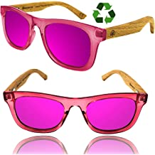 c92bb61a15b Kids Polarized Sunglasses for Boys and Girls with Recycled Frames and Beech  Wood Arms