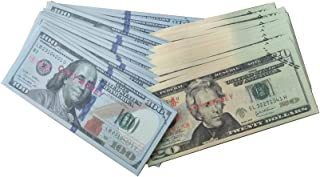 Motion Picture Money Prop Money Play Money Set (50 Pieces Each of $20's, $100's) $6000 in Game Money Full Print Fake Money 2 Sided for Monopoly, Photo, Pranks