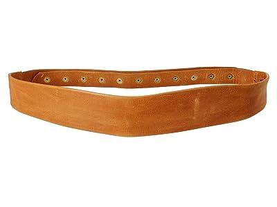 ADA Collection Naomi Belt w/ Studded Back (Cognac) Women