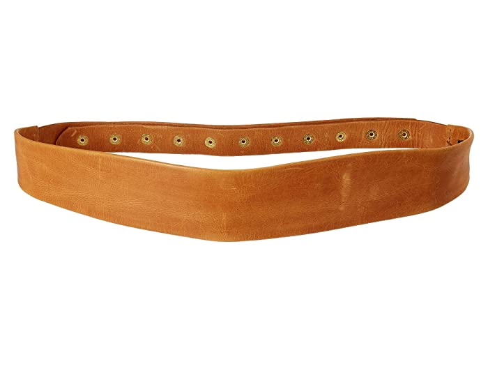 ADA Collection Naomi Belt w/ Studded Back (Cognac) Women