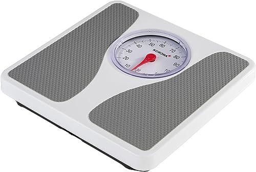 Korona 76660 Pèse-personne mécanique Louis en blanc   Pèse-personne de précision pour personnes jusqu'à 130 kg   Pèse...
