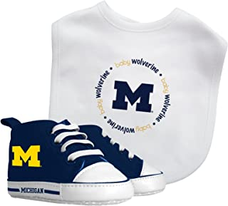 NCAA College Team Infant Baby Gift Set - Bib & Pre-Walker High Top Shoe Set - Pick Team!
