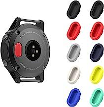MoKo Dust Plug Compatible with Garmin Fenix 5/5S/5X/6/6S/6X/6 Pro/6S Pro/6X Pro/Forerunner 935/Vivoactive 4/4S/Venu, [10 Pack] Silicone Charger Port Protector Anti Dust Plugs Caps, Multi Colors A