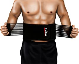 Lower Back Brace Support Belt Stabilizing Lumbar – Protects & Relieves Back Pain with Dual Adjustable Straps & Breathable Mesh Panels - Top Rated Waist Support & Brace Belt (1 Size FITS Most)