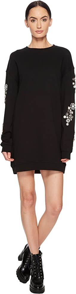 McQ - Diamante Slouch Dress