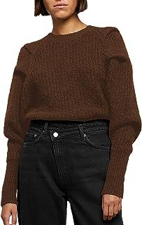 Suéteres cálidos para Mujer, Elasticidad, Manga Larga, Liso, Rowan, jerséis Sueltos, suéter para Mujer, Sudadera Suave con...