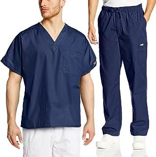 Cherokee Mens Workwear Scrub Set Medical/Dentist Uniform V-Neck Top & Cargo Pant