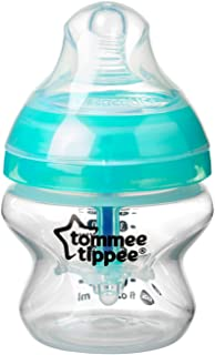 Tommee Tippee Advanced Anti-Colic Baby Bottle, Extra-Slow Flow Breast-Like Nipple, Heat-Sensing Technology, BPA-Free - Clear - 5 Ounce, 1 Count