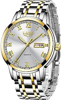 comprar comparacion LIGE Hombre Reloj Impermeable Acero Inoxidable Cuarzo Analógico Relojes Moda Deportivos Calendario Reloj para Hombre