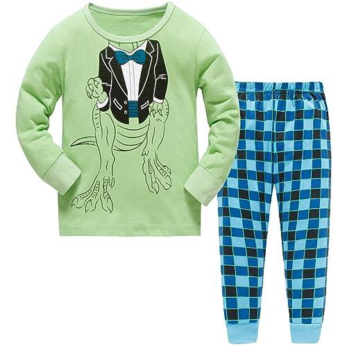 Hugbug Toddler Boys Super Cute Robot Heart Pajama Set 2-7T 26cd5004b