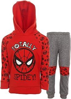 Marvel Spiderman Boys Fleece Pullover Hoodie and Pants Set