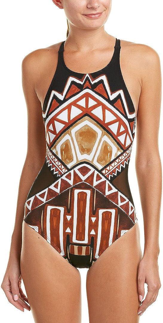 La Blanca Women's High Neck One Piece Swimsuit