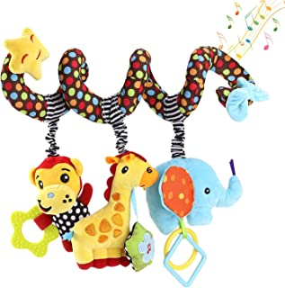 willway Hanging Toys for Car Seat Crib Mobile, Infant Baby Spiral Plush Toys for Crib Bed Stroller Car Seat Bar