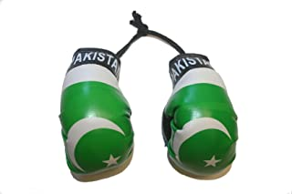 Pakistan Country Flag Mini Boxing Gloves to Hang Over Your Automobile Mirror New