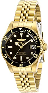 Invicta Women's Pro Diver Quartz Watch with Stainless Steel Strap, Gold, 16 (Model: 29190)