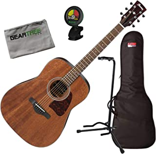 Ibanez AW54OPN AW Artwood Open Pore Natural Acoustic Guitar w/Bag, Tuner, Stand,