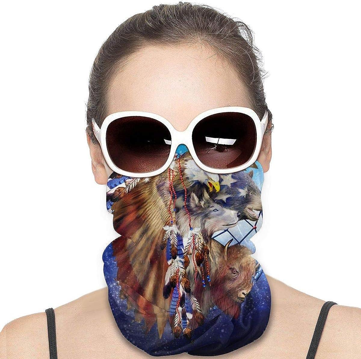 Tidyki Bandana Face Mask - Happy Camper Motorcycle Mask Neck Gaiter Multifunctional Headwear Head Bands Neck Gaiters for Men Headbands Neck Warmer for Men