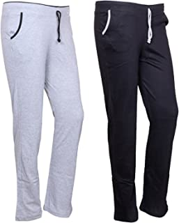 IndiWeaves Women's Cotton Trackpants Pack of 2 (73200-2022-IW-P2_Multicolor_)