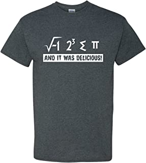 I Ate Some Pi and It was Delicious Funny Math Pun 3.14 Adult Men's Humor T-Shirt