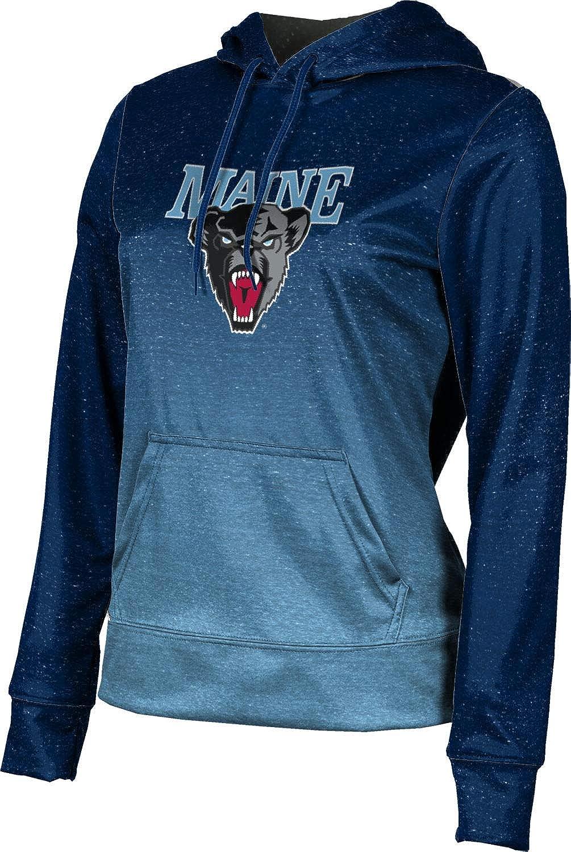 ProSphere University of Maine Girls' Pullover Hoodie, School Spirit Sweatshirt (Ombre)