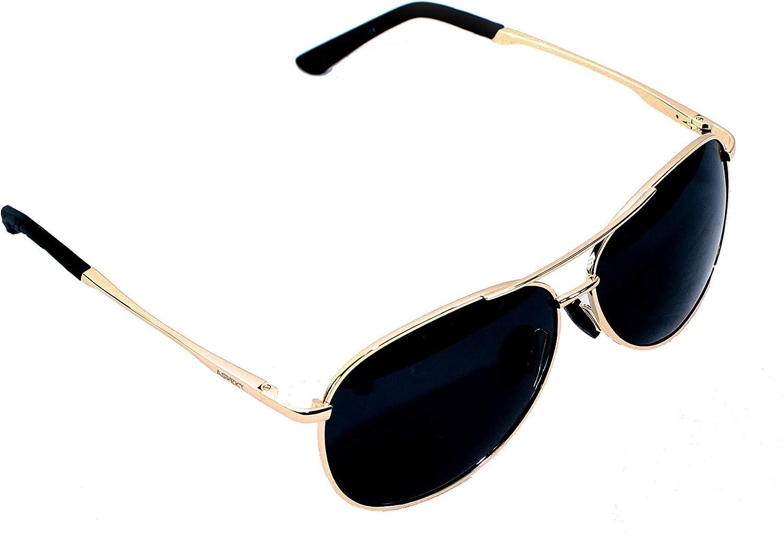 ASPEKT  gold Frame Polarized Aviator Sunglasses Military style + lost or broken PredECTION