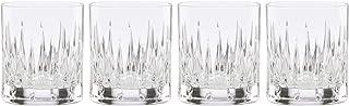 Reed and Barton Soho 4pc Whiskey Glass Set, 3.65 LB, Clear