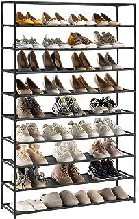 YOUDENOVA Étagère à Chaussures 5-10 Niveaux Range-chaussures pour 50 Paires Meuble de Rangement Polyvalent 150x93x30 Armoi...