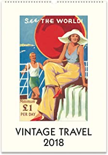 Cavallini Papers 2018 Vintage Travel Wall Calendar