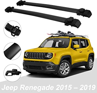 ALAVENTE Roof Rack Cross Bars for Jeep Renegade 2015 2016 2017 2018 2019 Luggage Racks Raggage Rail Crossbars with Factory Side Rails