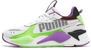 PUMA Sneakers RS-X Bold in Pelle e Mesh Bianca con Inserti in gommato Lilla e Verde Fluo (40 EU)