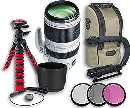 Canon EF 100-400mm f/4.5-5.6L IS II USM Lens + Original Canon Lens Hood ET-83D + Original Canon Lens Bag + 3 PC Filter Kit + Tripod + Scorpion Grip + Cap Keeper